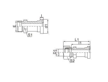 公制螺纹卡套式/轻系列法兰