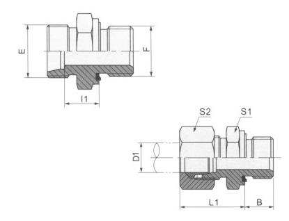 英管螺纹胶垫密封柱端