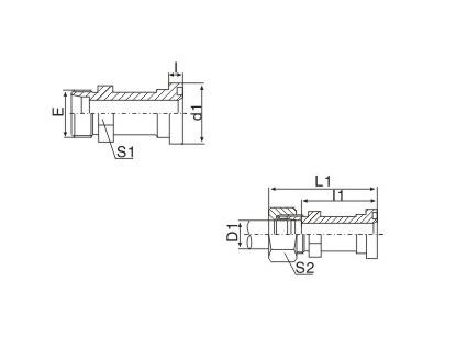 公制螺纹卡套式/重系列法兰